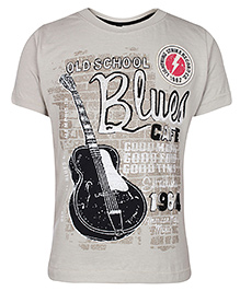 Ollypop Half Sleeve T-Shirt With Print - Grey