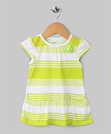 Color Block Dress - Light Green