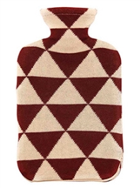 Pluchi Cotton Knitted Hot Water Bottle Cover Triangulos