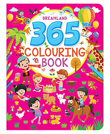 Dreamland Publication 365 Coloring Book - English