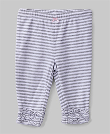 Stripe Leggings - White & Grey