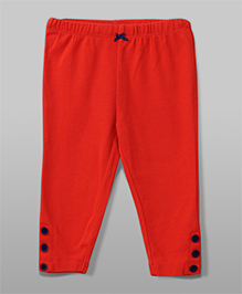 Leggings Buton Design - Red