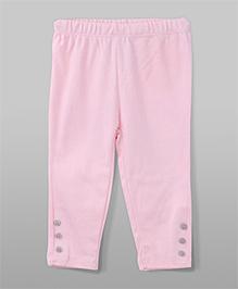 Leggings Buton Design - Pink