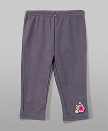 Flower Patch Leggings - Grey