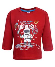 Pink Rabbit Fleece T-Shirt Full Sleeve - Universe Print
