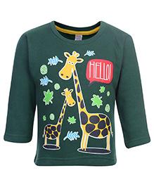 Pink Rabbit Fleece T-Shirt Full Sleeve - Green