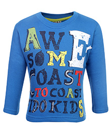 Fido Fleece T-Shirt Full Sleeve - Blue