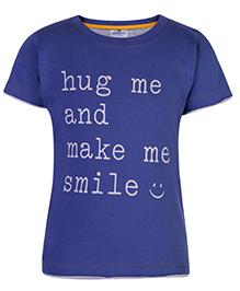 Ollypop T-Shirt Half Sleeves Navy Blue - Hug Me Print