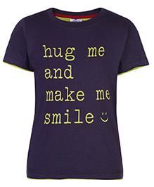 Ollypop T-Shirt Half Sleeves Steel Color - Hug Me Print