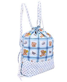 Vividha Swim Bag Blue - Teddy Print