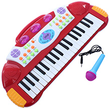 Fab N Funky Baby Electronic Keyboard Piano With Microphone - Red