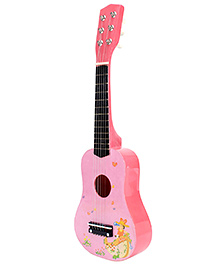 Fab N Funky Wooden Baby Guitar - Pink