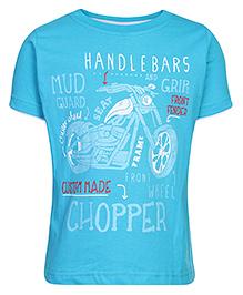 Ollypop T-Shirt Half Sleeves Chopper Print - Blue