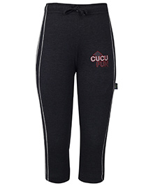 Cucu Fun Track Pants With Draw String - Black