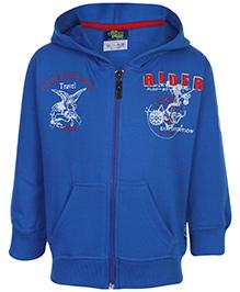 Cucu Fun Full Sleeve Sweatshirt Hooded - Blue