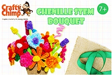 Crafty Chimp Chenille Stem Bouquet