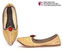 Azura Jodhpuri Jutis Handcrafted - Light Brown
