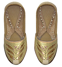 Azura Jodhpuri Jutis Handcrafted - Glitter Work