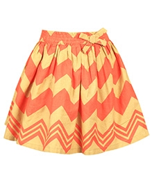 ShopperTree Multi Striped Skirt Popline - Multi Colour