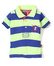 New York Polo Academy Half Sleeves T-Shirt Wide Stripe Print