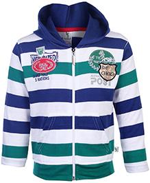 Cucumber Sweatshirt Hooded Blue - Stripes