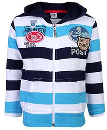 Cucumber Sweatshirt Hooded Navy Blue - Stripes