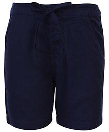 Babyhug Drawstring Bermuda - Navy Blue