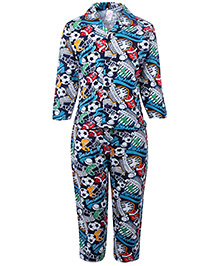 Pink Rabbit Nightsuit Full Sleeves - Athletic Champions Print