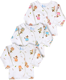 Pink Rabbit Vests Full Sleeves - Set Of 3