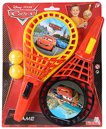 Disney Pixar Cars Catch And Ball Game Set - Yellow And Black