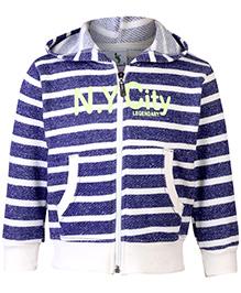 Cucumber Sweatshirt Hooded Blue And White - Stripes