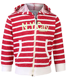 Cucumber Sweatshirt Hooded Red And White - Stripes