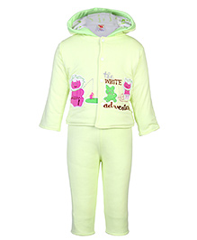 Tappintoes Full Sleeve Hooded Winter Wear Suit - Embroidered Patch