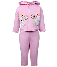 Tappintoes Full Sleeve Hooded Winter Wear Suit - Cat Patch