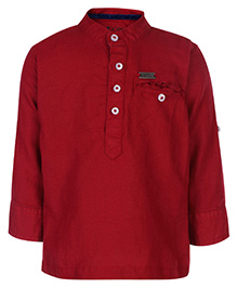 Gini & Jony Kurta Style Shirt Full Sleeves - Red Fiesta