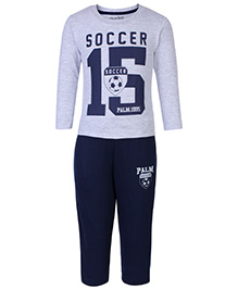 Palm Tree T-Shirt And Track Pants Set - Soccer Print