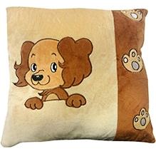 Soft Buddies Cushion Brown - Dog Print