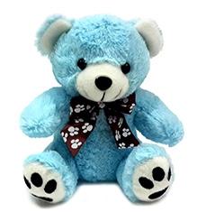 Soft Buddies Teddy Bear Soft Toy Small Blue