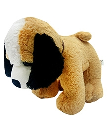 Soft Buddies Dog Soft Toy With Bell - Brown