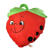 Soft Buddies Cushion In Strawberry Shape - Red