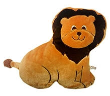 Brown Cushions & Pillows LION - PLAYTOY - 14 X 14 X 3 Inches