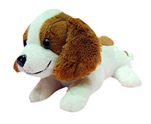 Soft Buddies Puppy Soft Toy - White And Brown