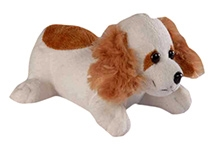 Soft Buddies Soft Toy Puppy - White And Brown
