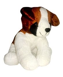 Soft Buddies Doggy Soft Toy - White And Dark Brown