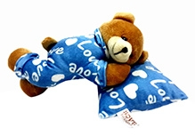 Soft Buddies Soft Toy Blue - Sleeping Teddy Bear