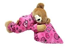 Soft Buddies Soft Toy Pink - Sleeping Teddy Bear