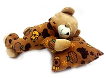 Soft Buddies Soft Toy Brown - Sleeping Teddy Bear