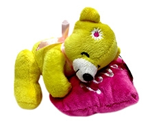 Soft Buddies Soft Toy Yellow And Pink - Bear on Heart