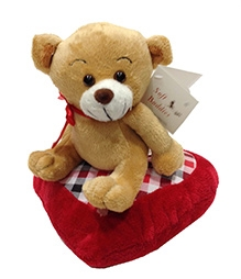 Soft Buddies Soft Toy Beige - Sitting Bear With Heart