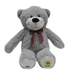 Soft Buddies Soft Toy Grey - Dimple Bear